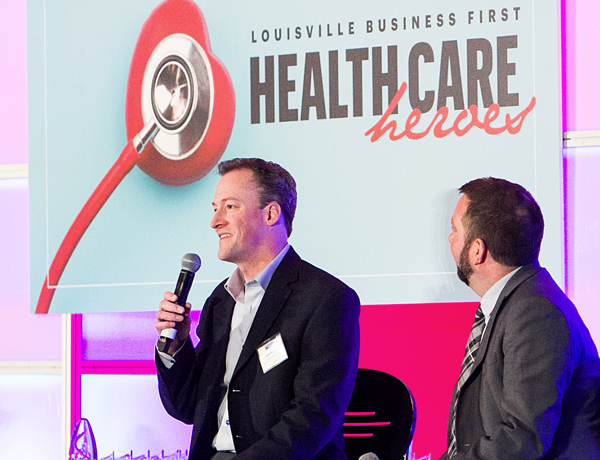 Talaris CEO Scott Requadt speaking at the Louisville Healthcare Heroes 2020 event